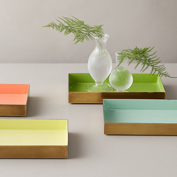 Decorative Trays | for a practical pop of color at the entry or bath