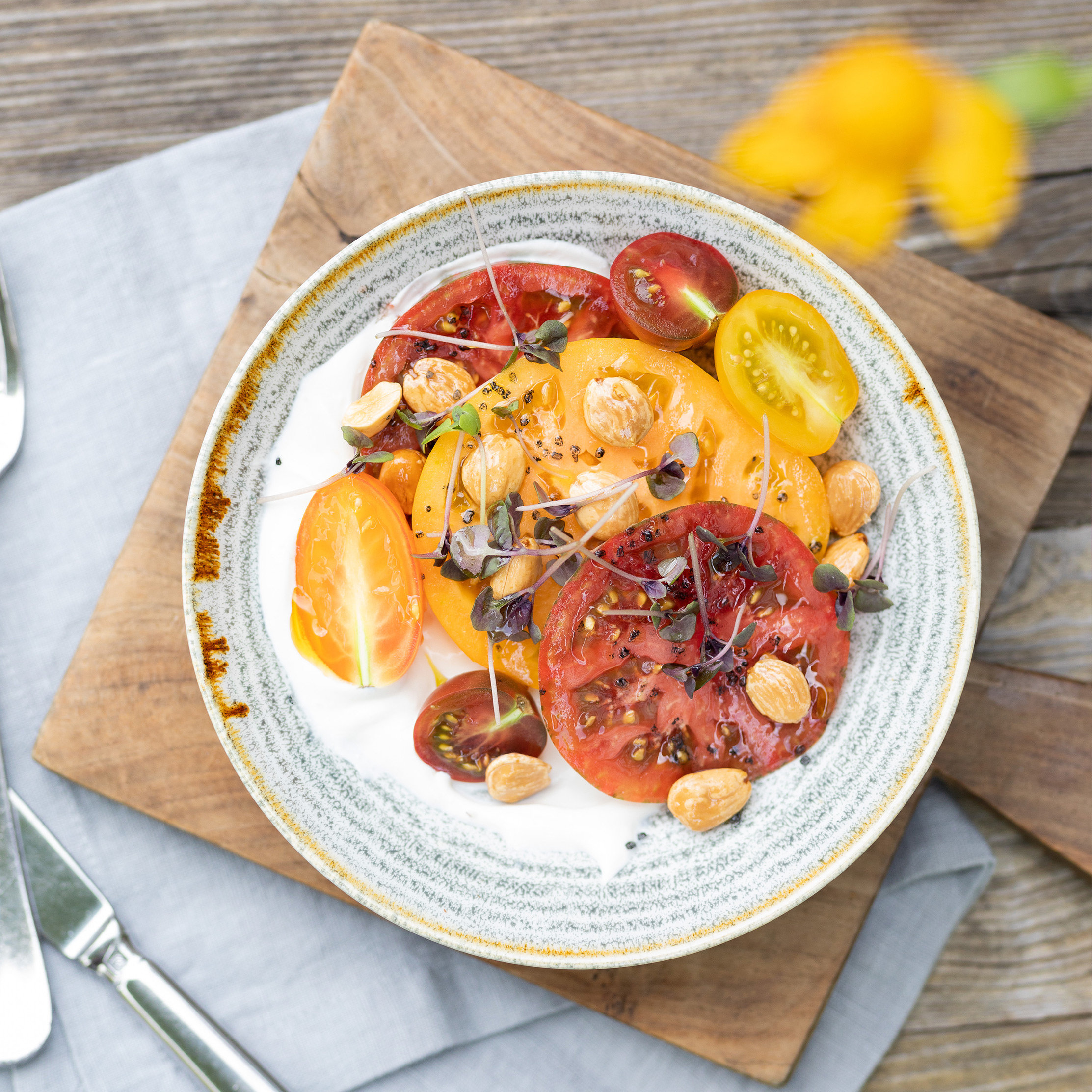 The Grower + Chef: Tomatoes with Jeff Taibe and Jess Bengtson