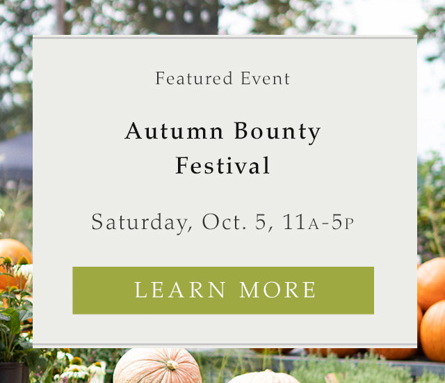 Autumn Bounty Festival | Saturday, October 5 | 11:00am - 5:00pm