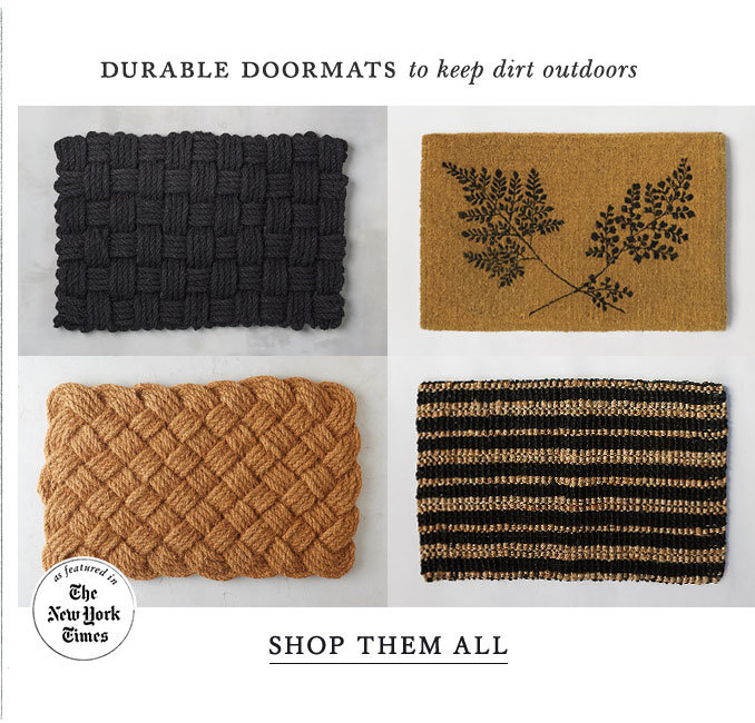 The Knot Weave Doormat ,a best-selling favorite | Rugged, coir fiber that catches dirt before it enters the house