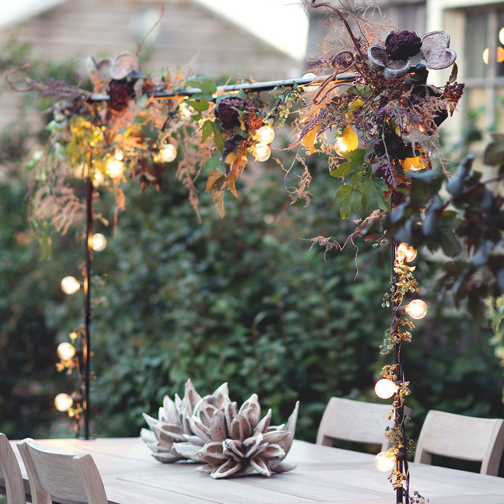 Get the Look: The Harvest Display with the Over-the-Table Iron Rod