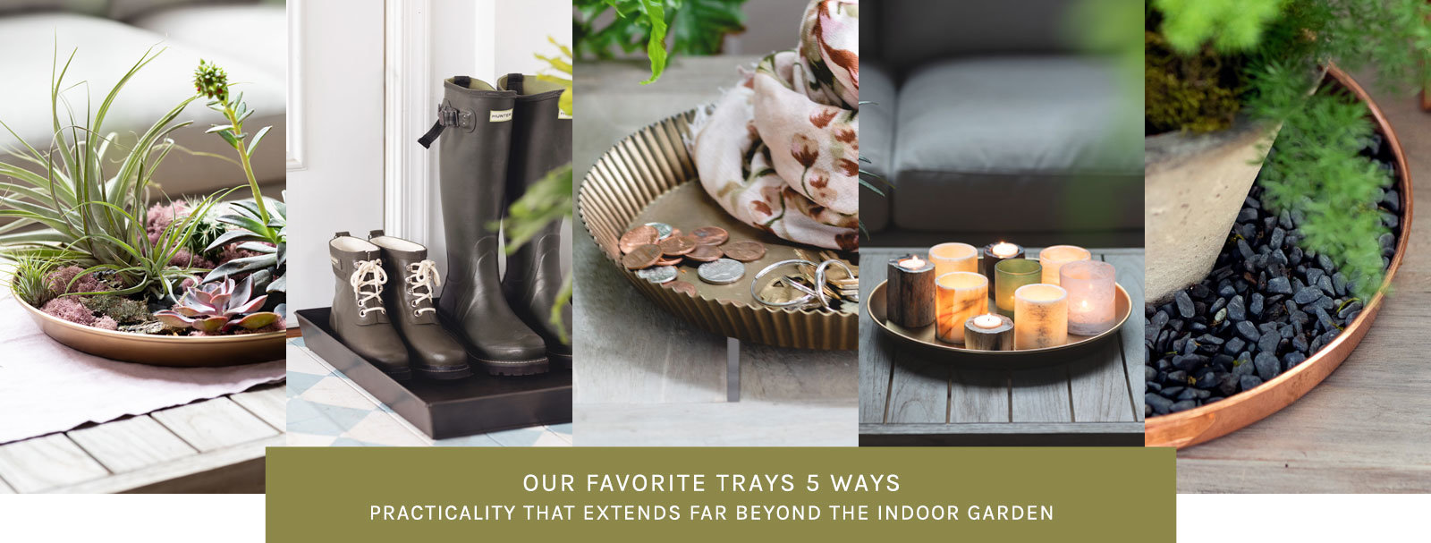 Our Favorite Trays 5 Ways | Our trays' practicality extends far beyond the indoor garden.