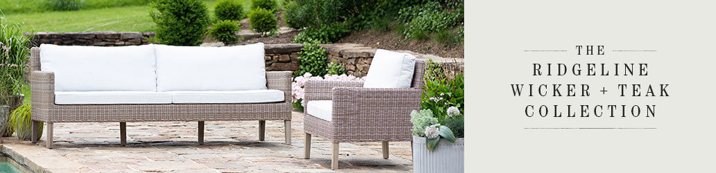 The Ridgeline Wicker + Teak Collection