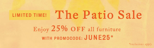 Limited time! 25% off all furniture with promocode JUNE25