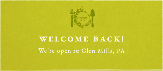 Welcome back! We're reopen in Glen Mills, PA