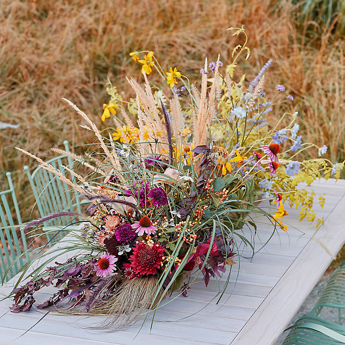 A Wild Late Summer Centerpiece Tutorial with Our Creative Stylist