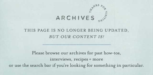 The Blog Archives | This page is no longer being updated