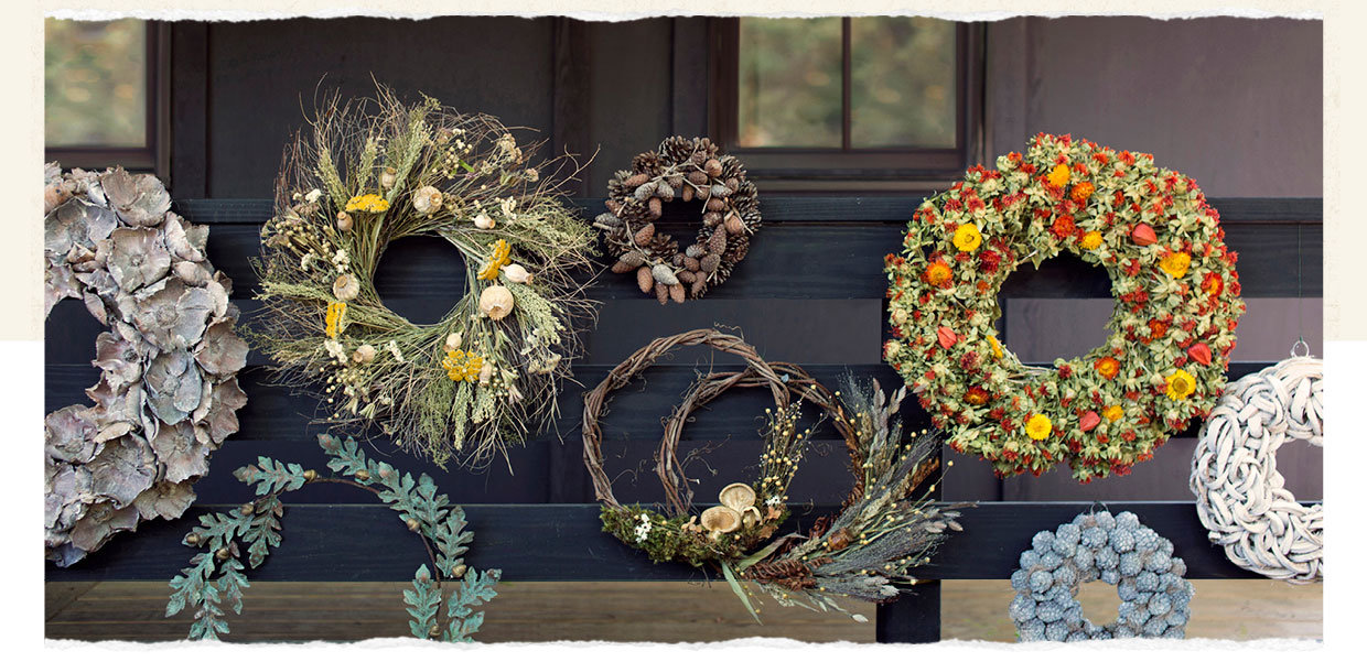 Group Shot of all Wreaths