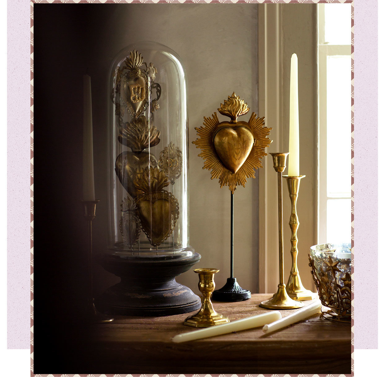 Crowns and Gold Hearts in Cloches