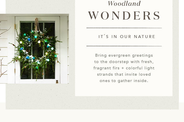 Faux Wreath with Garden Lights