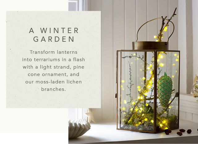 Sweet Sage Lantern with Pine Cone Ornament